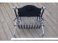 Cast iron fire grate, fire basket