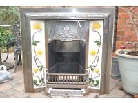 Fireplace Insert Victorian Style Tiled Including NU-Flame Gas Fire