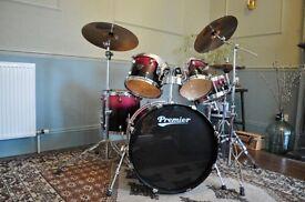 Premier XPK 5 piece drum set