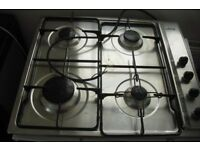 SMEG GAS HOB IN CHROME IN GOOD WORKING ORDER