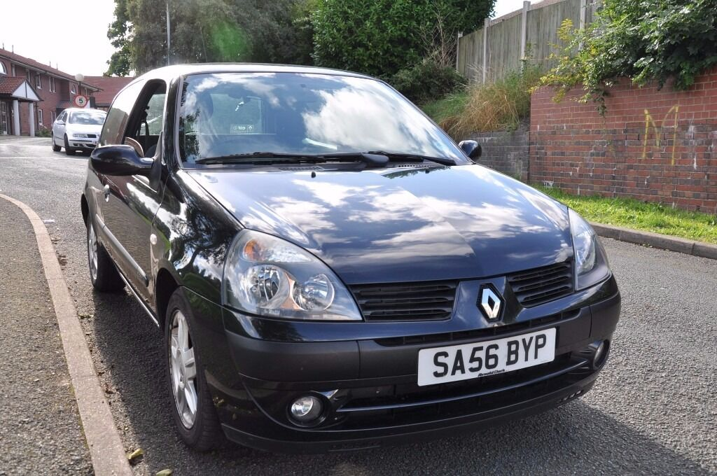 RENAULT CLIO 2006 3 DOOR HATCHBACK BLACK *long mot*