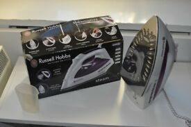 Steam Iron. Russell Hobbs. Purple and White. Good Condition!