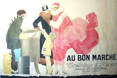 1930s ORIGINAL VINTAGE FRENCH POSTER, BON MARCHE FASHION - RENE VINCENT *RARE*
