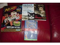 SELECTION OF CHILDREN'S BOOKS NERF ANNUAL + PAPERBACK BOOKS