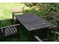 Matching wooden garden and four chairs - URGENT - OPEN TO OFFERS