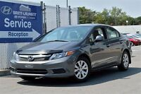 2012 Honda Civic Sdn,impeccable EX,toit