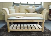 Rough Sawn New Pine Coffee Table - Free delivery
