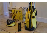 KARCHER K4 Full Control Pressure Washer with accessories and box