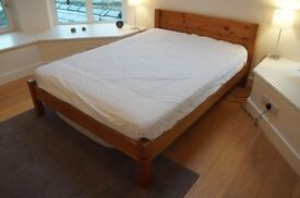 Double bed and mattress for sale - standard size