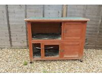Large Rabbit Hutch for sale.