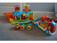 Vtech Bundle VTech Baby Toot-Toot Drivers Garage and Car Carrier with Cars