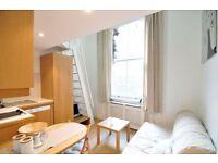 SHORT LET Charming Split level studio in West Kensington £330 pw All Bills Included