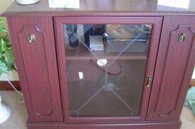 dark wood display/hifi cabinet