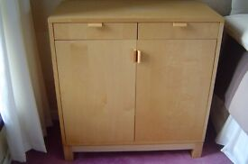 Smart Ikea birch cupboard with drawers