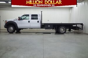 2013 Ford F-550 CHASSIS CAB CREW CAB XLT 4X4 DECK TRUCK
