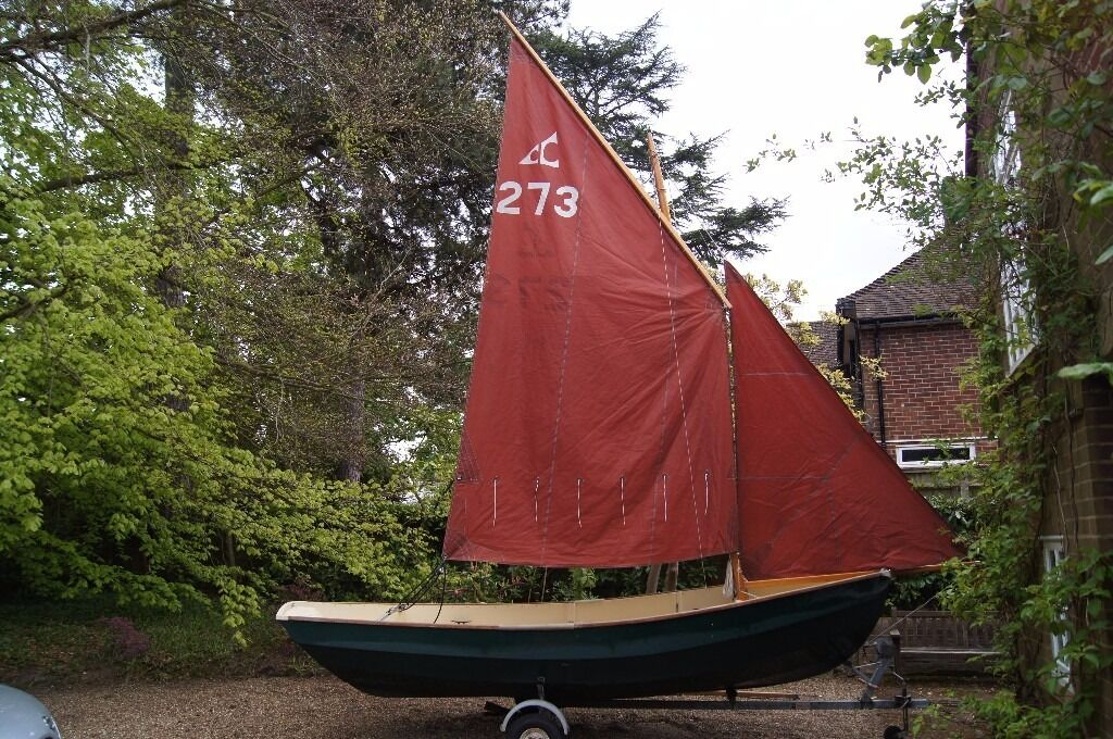 Cornish Coble Sailing Boatin Woking, SurreyGumtree - An excellent boat that can be sailed solo or with enough room for 2 3 friends. The lug rig does not have a boom which is a good safety feature. Clever designing enables a choice of 2 mast positions, allowing with or without bowsprit. (Length...