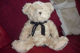 """""""DAVID EMANUEL"""" NEW BEIGE TEDDY WITH HIS NAME PRINTED ON THE BOTTOM OF PAW"""
