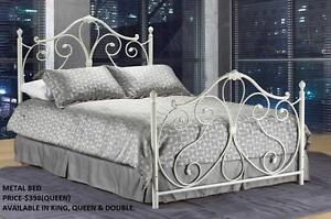 ELEGANT METAL BEDS ON REDUCED PRICES : GRAND SALE- 50% OFF (AD 147)