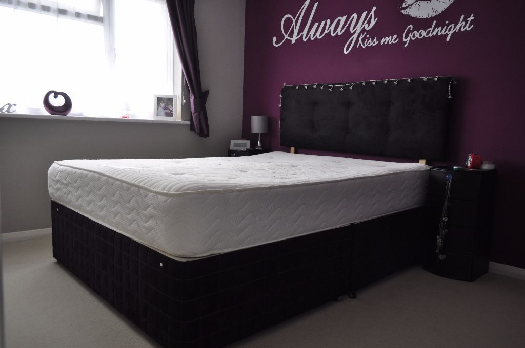 King size divan bed with headboard in herne bay kent for Double divan size