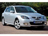 2009 Mazda3 2.0 D Sport 5dr+DIESEL+FULL BLACK LEATHER+FREE WARRANTY+6 SPEEDS+BOSE SOUND SYSTEM