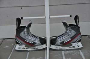 Hockey skates/ Used hockey sticks