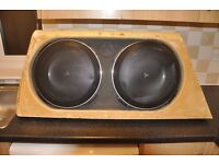 """TWO JL Audio 13TW5-3 Shallow-mount 13.5"""" 3-ohm subwoofer with custom made box for merc ml"""
