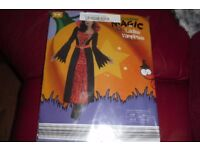 BRAND NEW SIZE S/M SIZE 10/12 LADIES VAMPIRESS FANCY DRESS OUTFIT