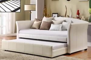 DAY BED IN WHITE *MATTRESSES SOLD SEPARATELY