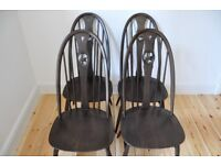 Set of 4 Vintage retro 60's Style Ercol windsor swan back swanback chairs