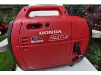NOW SOLD HONDA EU20i portable inverter silent generator 12v & 230v weight about 20Kg output 2000W
