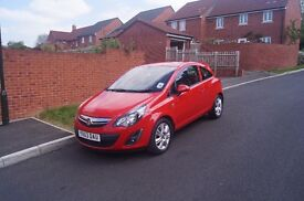 2013 (63) Vauxhall Corsa Energy, 1.4 petrol, 3 door, red, with A/C & blutooth