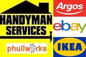 HANDYMAN SERVICES - TV BRACKET - CARPENTER /FLAT PACK ASSEMBLY /SLIDING DOORS IKEA FLATPACK REMOVALS