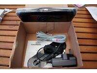 Silver & Black Sky Broadband Router with ethernet cable - brand new, never used and boxed.