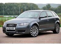 "2006 Audi A3 2.0 TDI SE Sportback 5dr+DIESEL+6 SPEEDS+LONG MOT+FULL LEATHER+18"" ALLOYS+FREE WARRANTY"