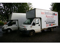 Removals at Man and Van prices Huge Luton van 1 or 2 man team real removal company