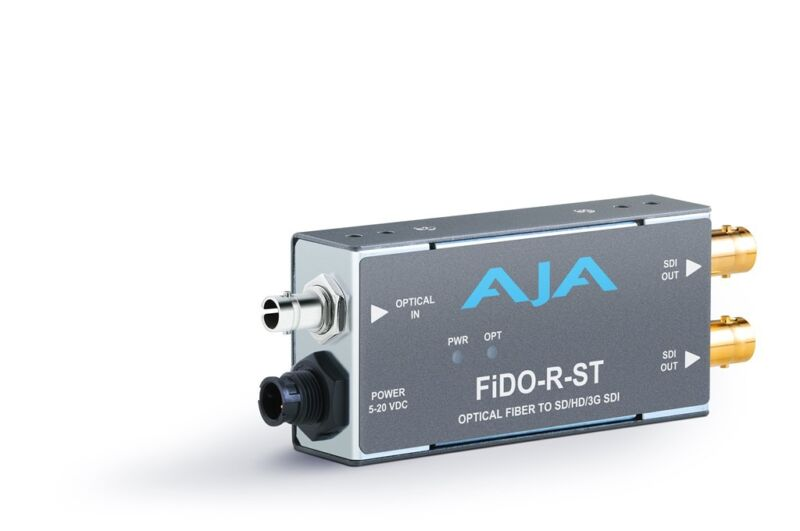 Aja Fido-r-st Single Channel St Fiber To Sdi Converter/ Dual Sdi Outputs To 10km