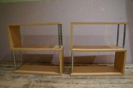 REDUCED S Shaped Shelves x 2 - Birch Laminate