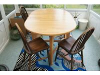 Dining table, solid wood, folding, John Lewis
