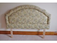 King size DECORATIVE patterned HEADBOARD pleated and piped surround