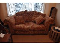 Comfy 2 Seater Sofa & Cushions - Ethnic Pattern