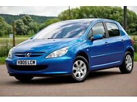 2005 Peugeot 307 1.6 16v S 5dr+JUST SERVICED+12 MONTHS MOT+CHEAP TO RUN+READY TO DRIVE AWAY
