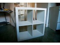 Ikea White KALLAX Shelving Unit