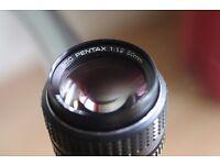 Pentax 1.2 50mm fixed prime lens