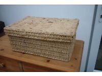 Seagrass Rattan Storage Lidded Box
