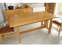 Solid Oak Extending Dining Table and 4 Leather Upholstered Chairs - Is this Right for You?