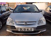 Honda civic silver 1.6 auto, 5 door hatchback