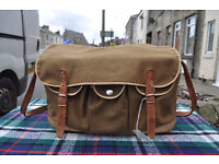 vintage canvas and leather tackle fishing bag