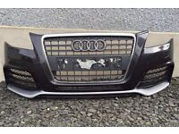 AUDI A4 B8 2008-2012 FRONT AND REAR BUMPERS S LINE SE BREAKING PARTS BUMPER