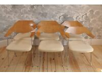 Vintage Retro 60's Set of 6 Habitat / Robin Day Dining / Office Chairs model 675 FREE LOCAL DELIVERY