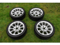 BMW 5 E60/61 MV2 18INCH 135M SPORT ALLOY WHEELS x4 WITH TYRES